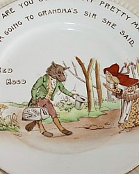 Antique 1913 Shelley Little Red Riding Hood Nursery Rhyme Baby Plate