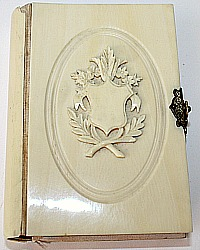 Antique French Carved Shield Missal or Prayer Book Ornate Clasp
