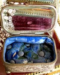 Antique French Ormolu Jewelry Display Casket
