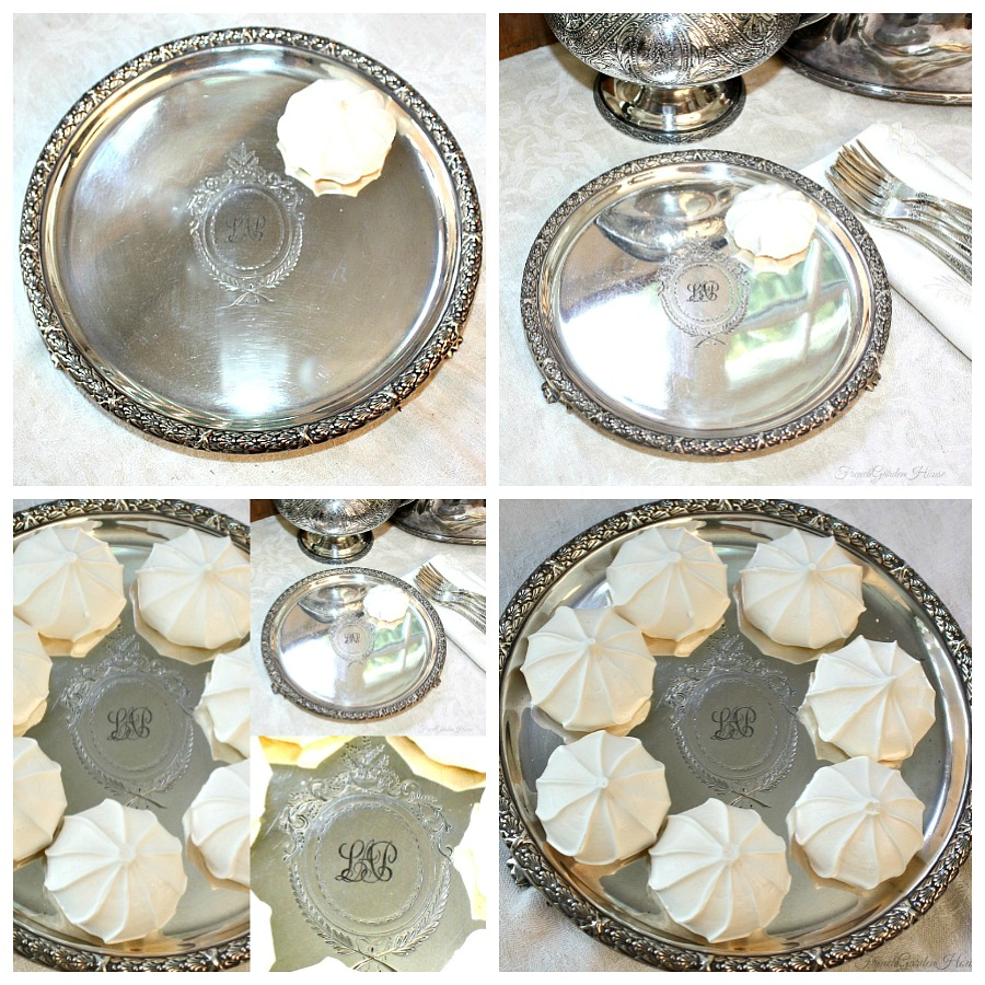 Antique Silver Mappin Web English Footed Monogram Salver Tray
