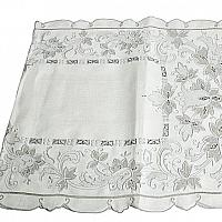 Antique Hand Embroidered Linen Place Setting for 6 with Runner Tulips