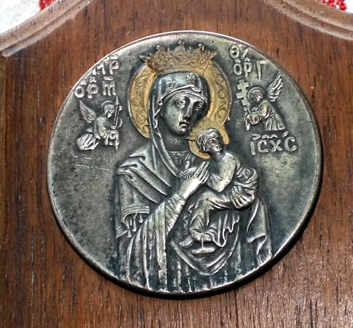 Antique Madonna of Perpetual Help Religious Cathedral Souvenir