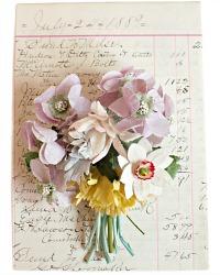 Vintage Millinery Floral Bouquet Printemps