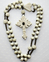 Antique French Bone Rosary Stanhope Crucifix