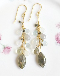 Waterway Semi Precious Vermeil Earrings