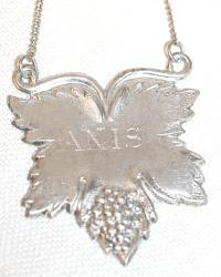Estate Silver ANIS Liqueur Decanter Label