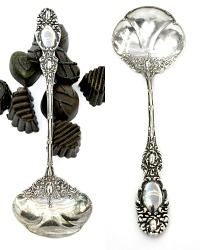 Antique Sterling Silver Bon Bon Nut Spoon
