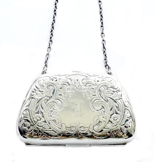 Antique Sterling Silver Chatelaine Lady's Purse