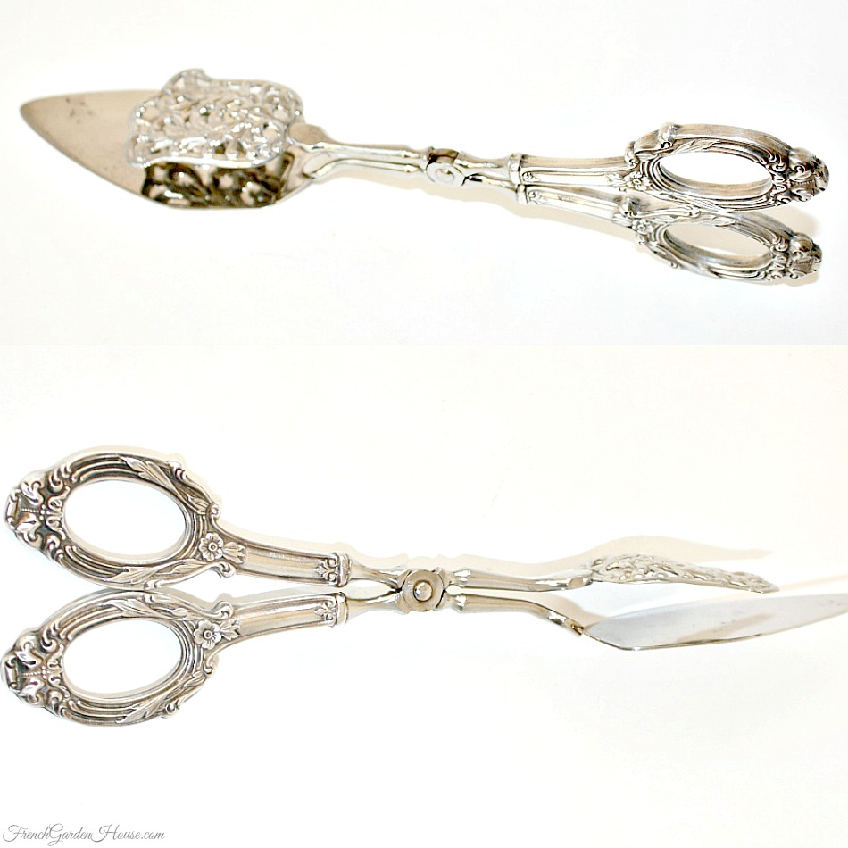 Ornate Sterling Silver Pastry Tongs