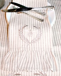 Luxurious European Linen Towel Napoleonic Bee Stripe