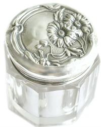 Antique Sterling Art Nouveau Floral Rouge Pot