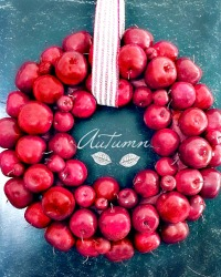 LAST ONE! Large French Country Faux Red Apple Wreath