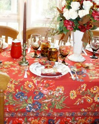 Country Harvest Flowers Tablecloth