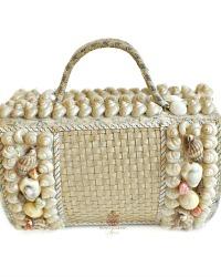 Antique French Shell Art Souvenir Suitcase