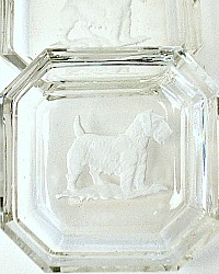 1920's Art Deco Intaglio Salt Heinrich Hoffman Sealyham Cesky Terrier Set of 2