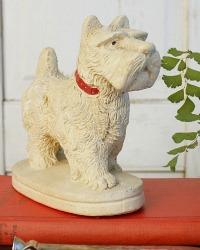 Vintage Chalkware Scottie Dog Model Figure