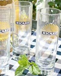 Vintage Aperitif Tall Ricard Glasses Set of 2