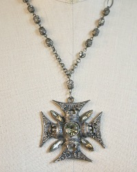 Florenza Maltese Cross Pendant Necklace