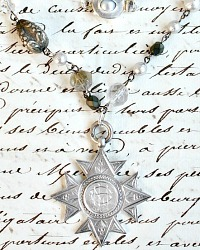 Antique Sterling Silver Award Fob Ice Necklace
