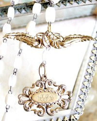 Georgia Hecht Antique Victorian Angel Wings Necklace