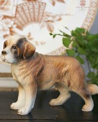 Vintage St. Bernard Dog Porcelain Figure Model