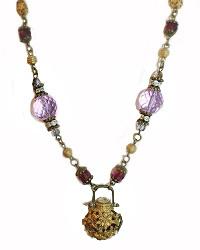 Tuileries Purple Lavender Locket Necklace