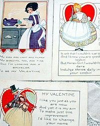 Set of 3 Vintage Valentine's Day Postcards