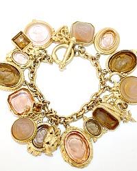 Extasia Signature Vermeil Butterscoth Intaglio Charm Bracelet