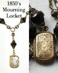 Estate Antique Early Victorian Gold Filled Mourning Locket