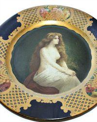 Antique 1905 Coca Cola Vienna Art Plate The Nude