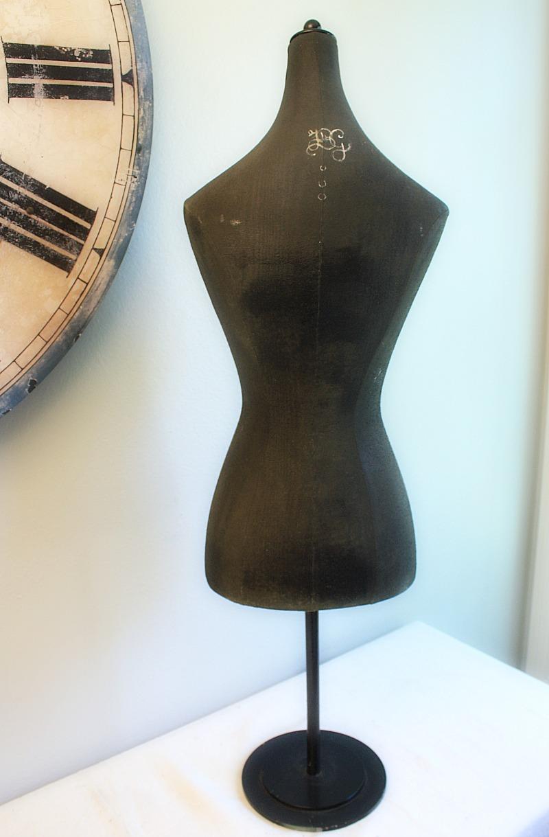 Vintage Half Scale Countertop Shop Dress Form Mannequin