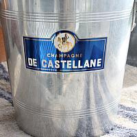 Vintage French Aluminum Champagne Bucket De Castellane