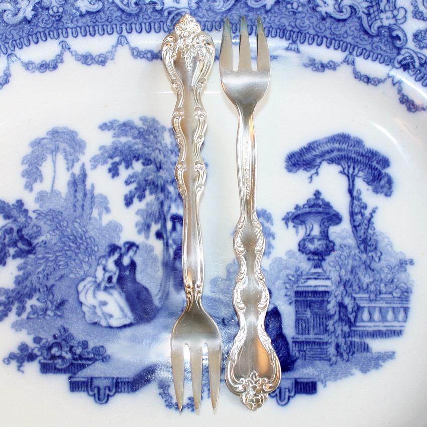 Vintage Silver Plate Oyster Forks Set of 8