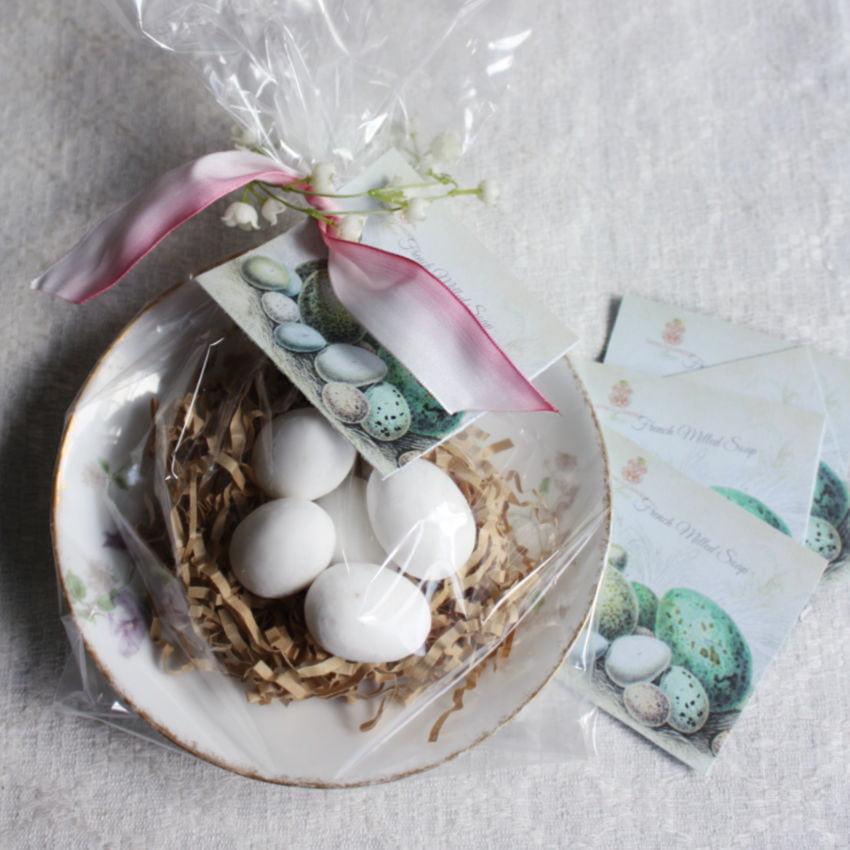 Blue Robin's Egg Soaps & Limoges Violets Antique Dish