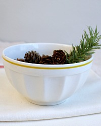 French White and Yellow Stripe Cafe au Lait Bowl