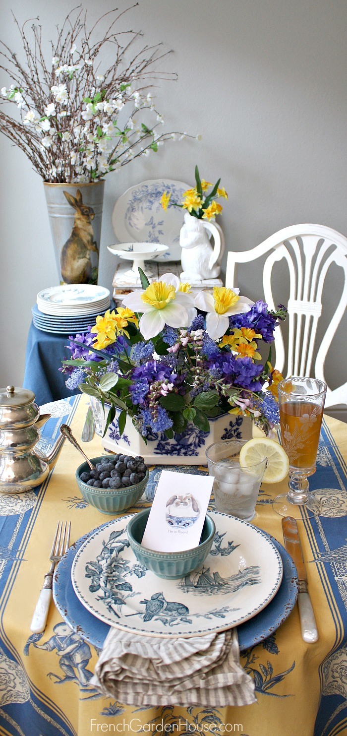 EasterBreakfastTableFrenchTablecloth