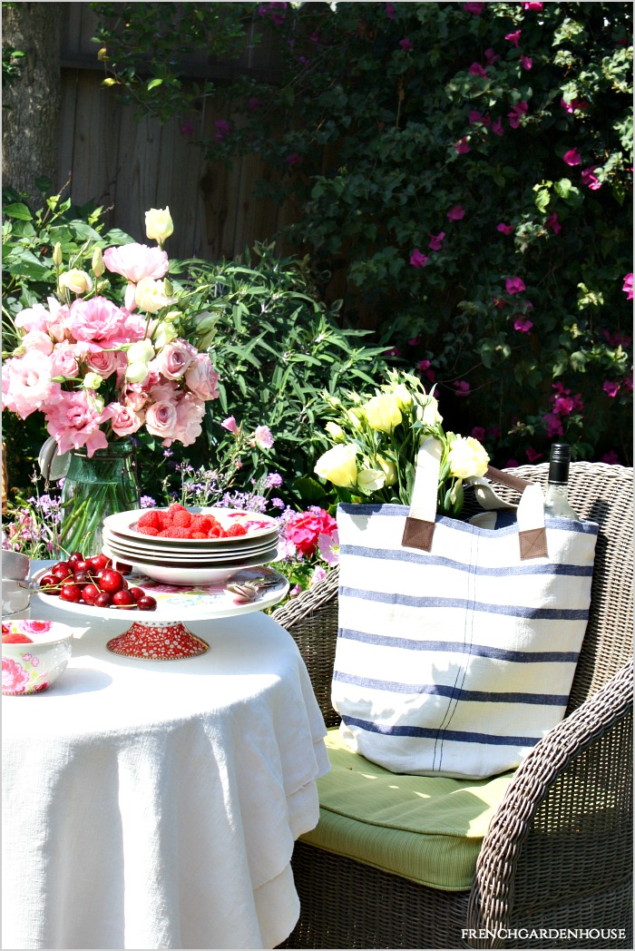 French Country Picnic Flowers French Garden House
